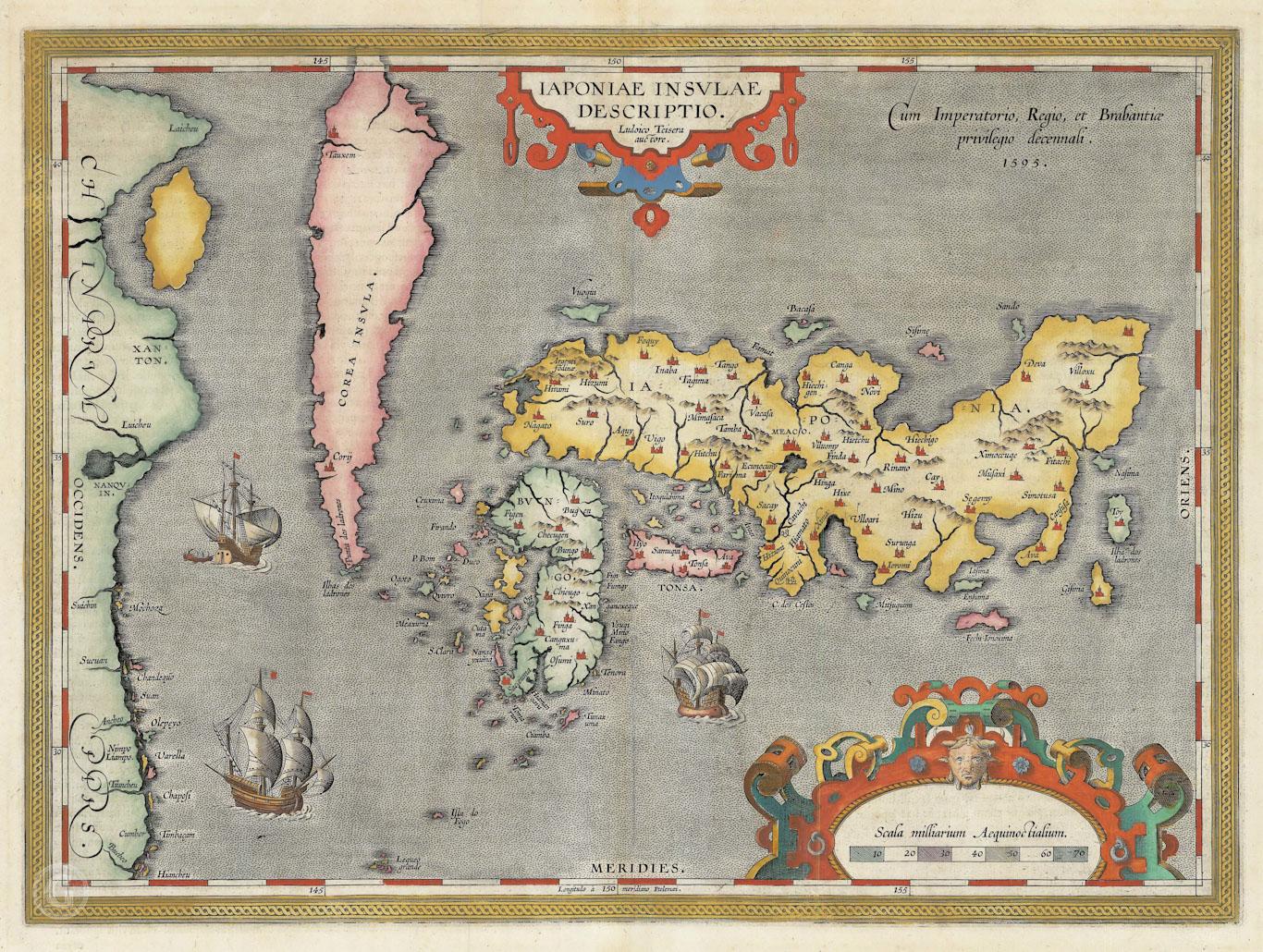 Абрахам Ортелий – Япония, 1595 г.