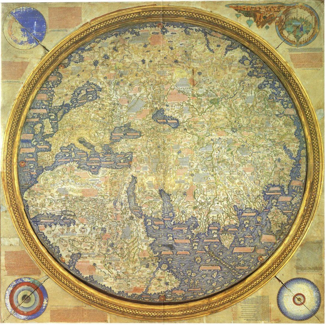 Карта португальского монаха Фра Мауро, 1459 г.