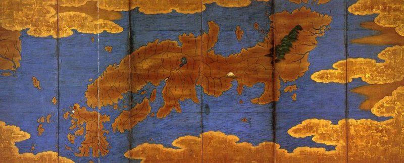 Карта японского монаха Гёки, версия XVII в. (оригинал -  VII в.)
